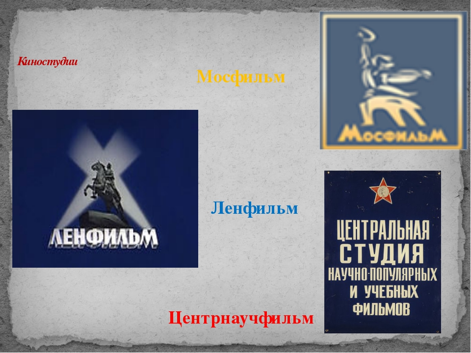Киностудии Мосфильм Ленфильм Центрнаучфильм