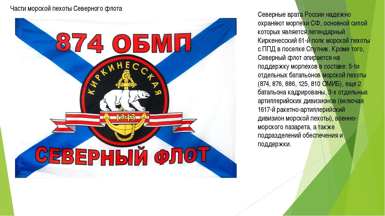 Части морской пехоты Северного флота Северные врата России надежно охраняют м...