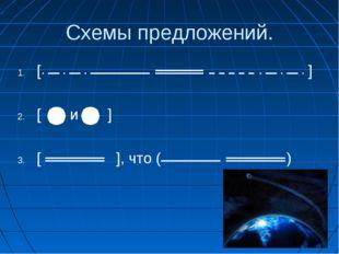 Схемы предложений. [ ] [ и ] [ ], что ( )