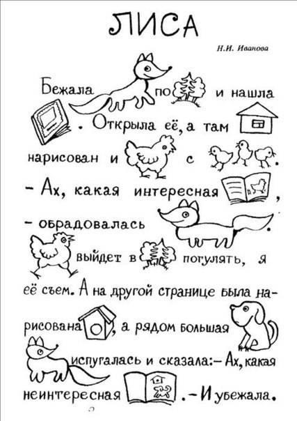 Текст в картинках для 1 класса, открытки марта
