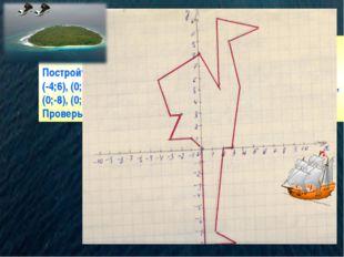 Задание 1. Проплыви до острова: Постройте точки: (0;0), (-1;1), (-3;1), (-2;