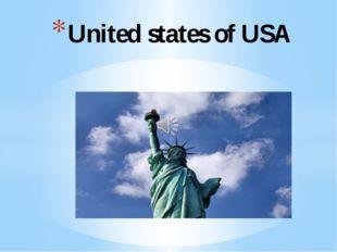 United states of USA