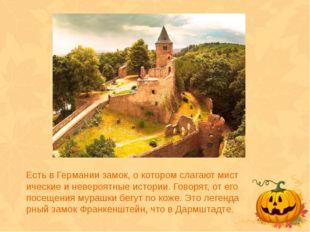 Есть в Германии замок, о котором слагают мистические и невероятные истории. Г