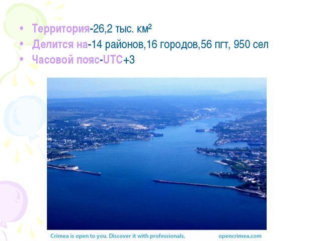 Территория-26,2 тыс. км² Делится на-14 районов,16 городов,56 пгт, 950 сел Ча...
