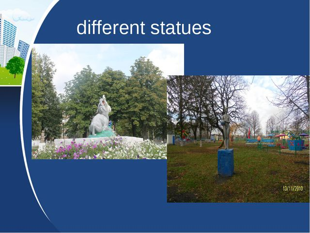 different statues