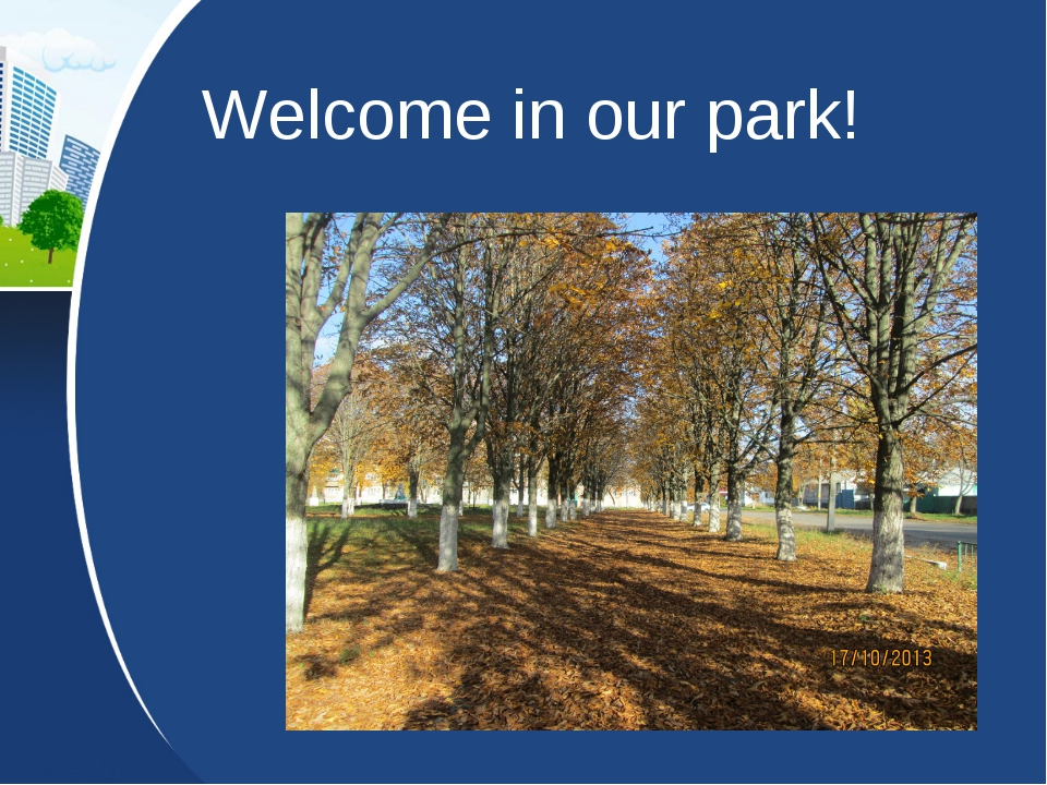 Welcome in our park!