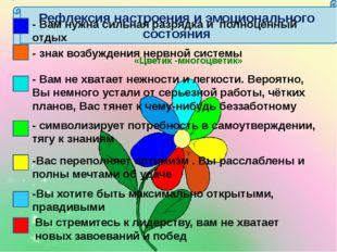 Рефлексия настроения и эмоционального состояния «Цветик -многоцветик» - Вам н