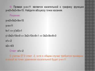 Решение типовых задач 1) Найти угловой коэффициент касательной проведенной
