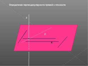 с Определение перпендикулярности прямой к плоскости