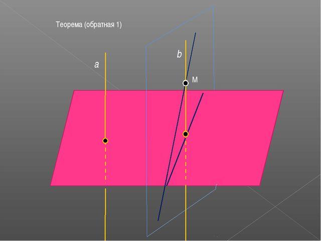 Теорема (обратная 1) М