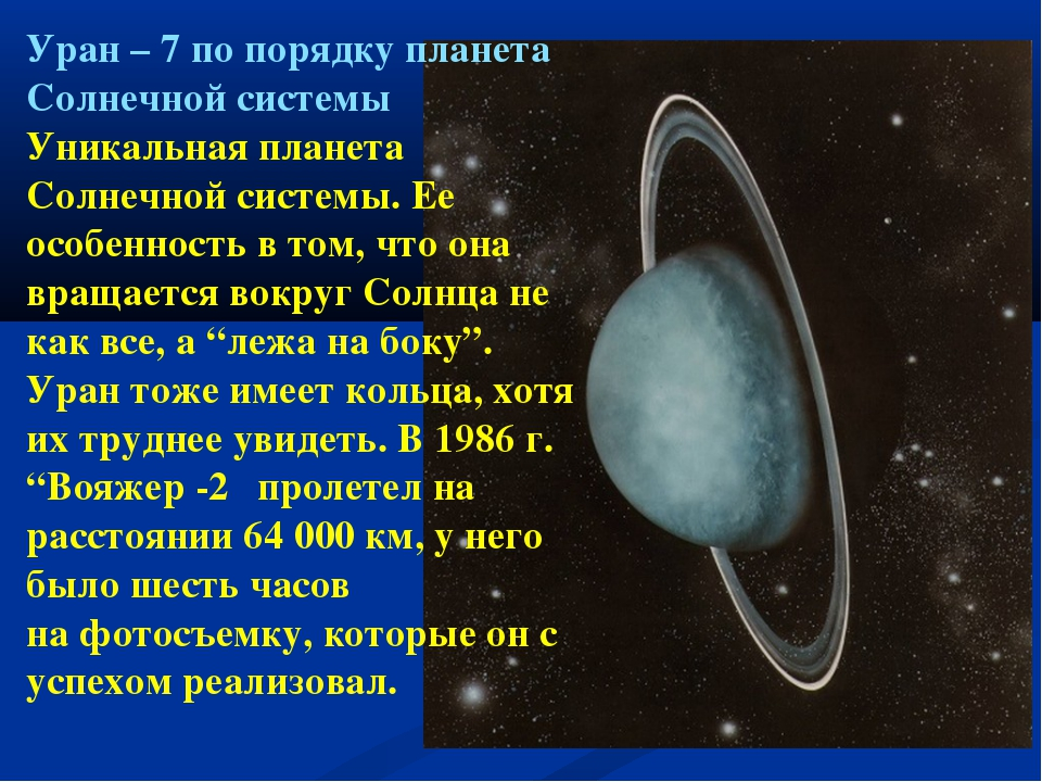 Уран – 7 по порядку планета Солнечной системы Уникальная планета Солнечной си...