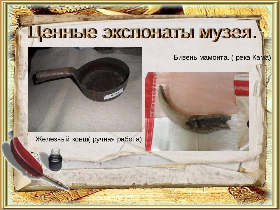 . Бивень мамонта. ( река Кама) Железный ковш( ручная работа).