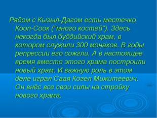 """Рядом с Кызыл-Дагом есть местечко Кооп-Соок (""""много костей""""). Здесь некогда б"""