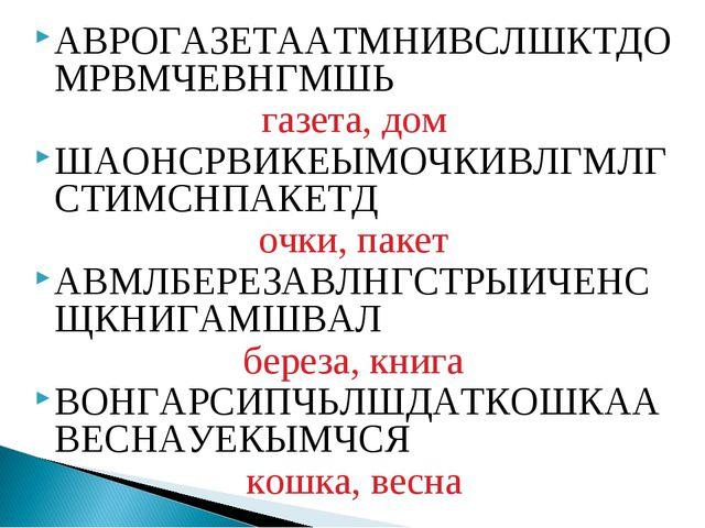АВРОГАЗЕТААТМНИВСЛШКТДОМРВМЧЕВНГМШЬ газета, дом ШАОНСРВИКЕЫМОЧКИВЛГМЛГСТИМСНП...