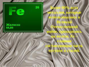 Более 90% всех металлов, которые использовались в Великой Отечественной войне