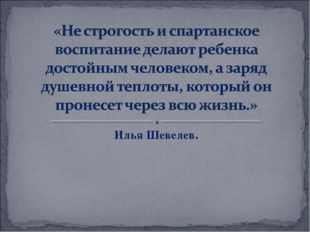 Илья Шевелев.