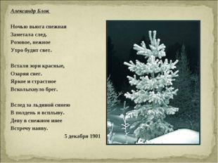Александр Блок  Ночью вьюга снежная Заметала след. Розовое, нежное Утро буди