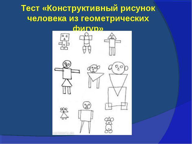 Тест «Конструктивный рисунок человека из геометрических фигур»