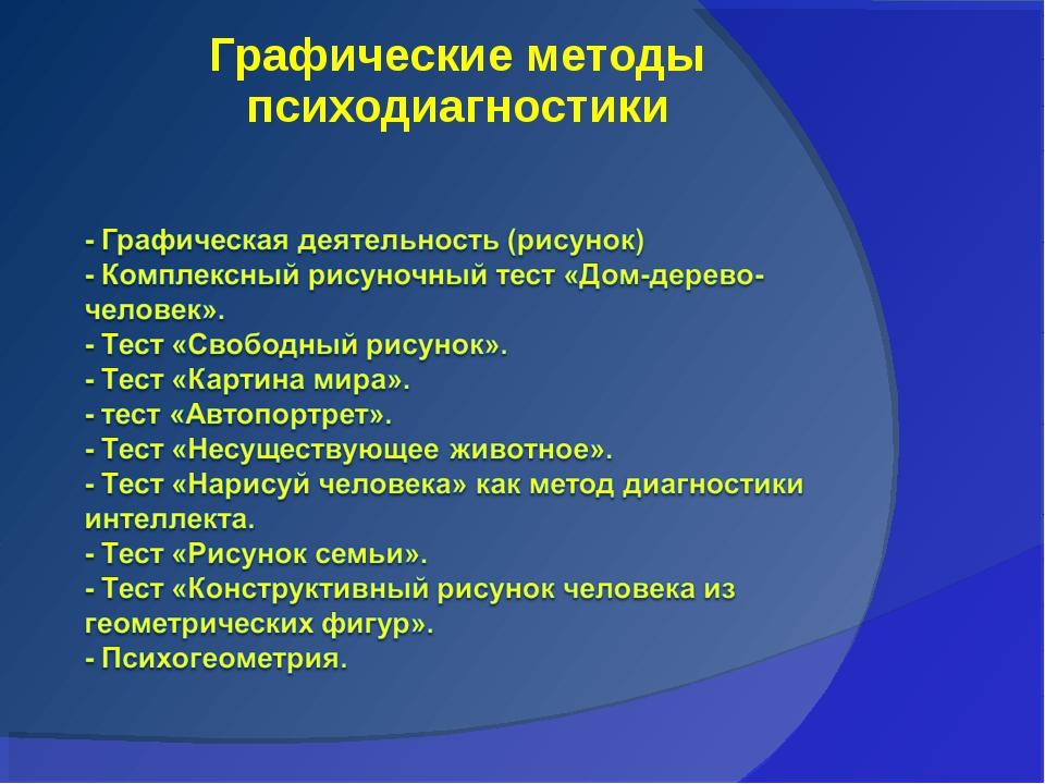 Графические методы психодиагностики