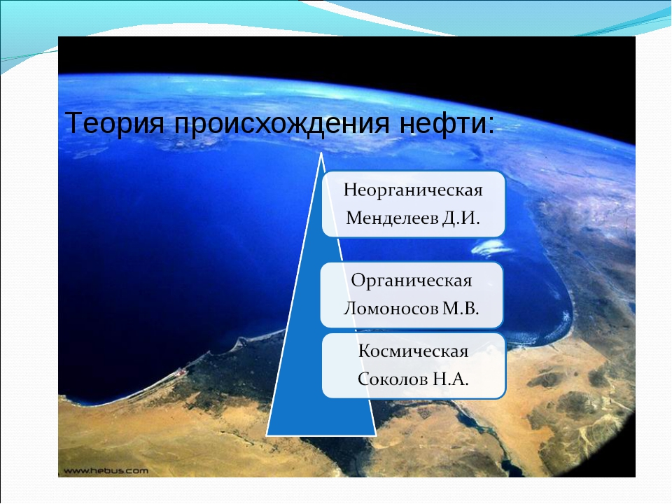 Теория происхождения нефти: