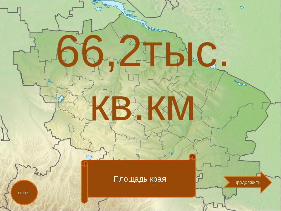 66,2тыс. кв.км ответ Площадь края Продолжить