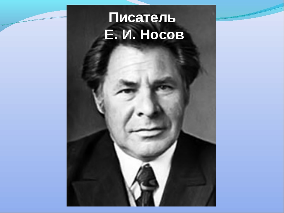 Писатель Е. И. Носов