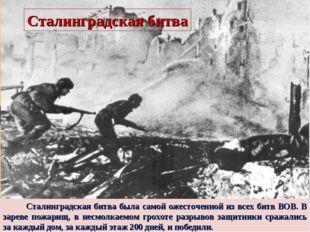 Сталинградская битва была самой ожесточенной из всех битв ВОВ. В зареве пожа