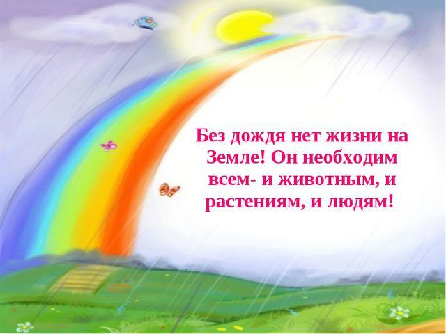Без дождя нет жизни на Земле! Он необходим всем- и животным, и растениям, и л...