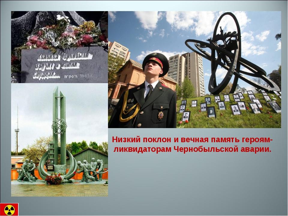 Низкий поклон и вечная память героям- ликвидаторам Чернобыльской аварии.