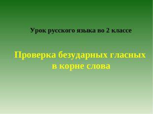 Урок русского языка во 2 классе Проверка безударных гласных в корне слова