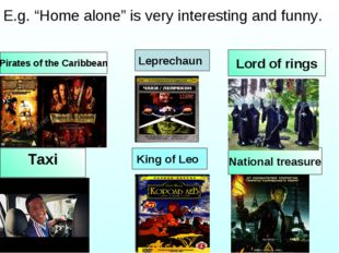 Lord of rings Taxi Pirates of the Caribbean National treasure King of Leo Lep