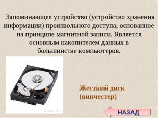 Запоминающее устройство(устройство хранения информации)произвольного досту