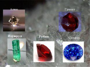 Алмаз Гранат Изумруд Рубин Сапфир