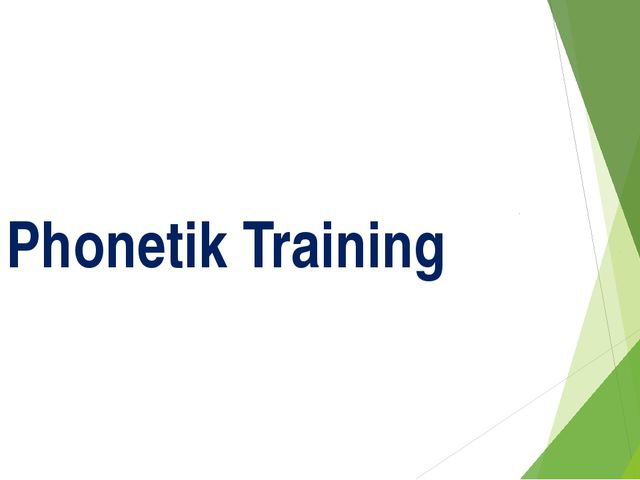 Phonetik Training