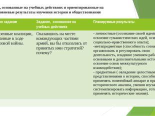 Задания, основанные на учебных действиях и ориентированные на многоуровневые