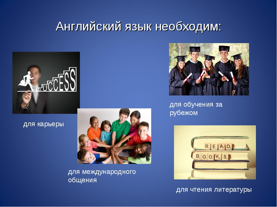 Английский язык необходим: для карьеры для обучения за рубежом для международ...