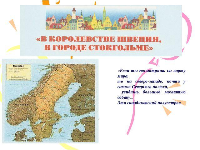 «Если ты посмотришь на карту мира, то на северо-западе, почти у самого Северн...