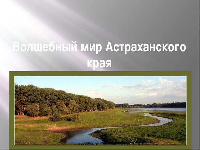 Волшебный мир Астраханского края