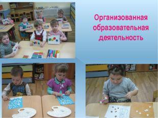 Организованная образовательная деятельность