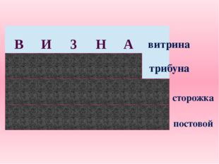 витрина трибуна сторожка постовой В И 3 Н А 3 Б У Н А 100 Р О Ж К А П О 100 В