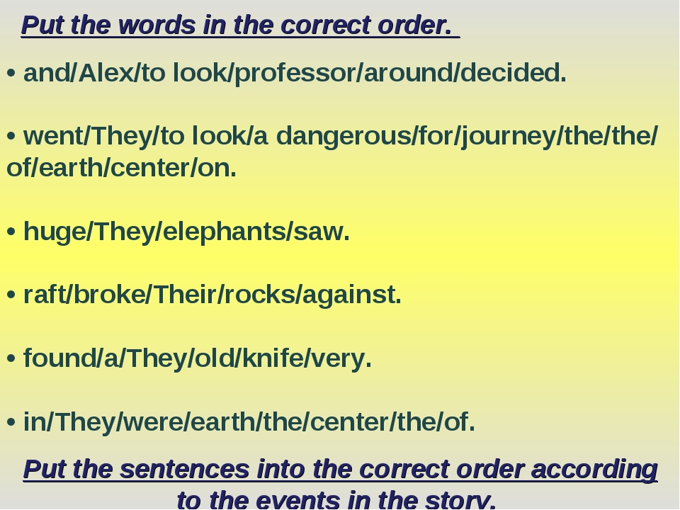 Put the words in the correct order. • and/Alex/to look/professor/around/decid...