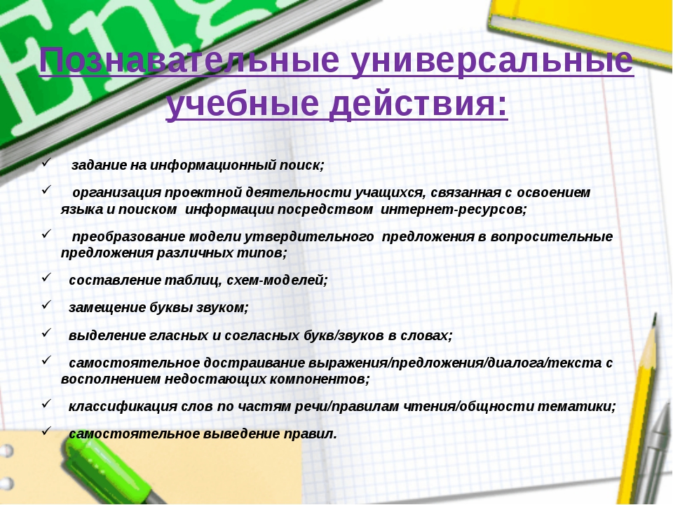 Познавательные универсальные учебные действия: задание на информационный поис...