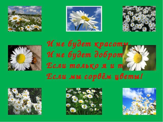 И не будет красоты, И не будет доброты, Если только я и ты, Если мы сорвём цв...
