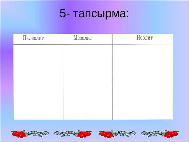 5- тапсырма: