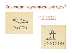 Как люди научились считать? Числа – иероглифы Древнего Египта