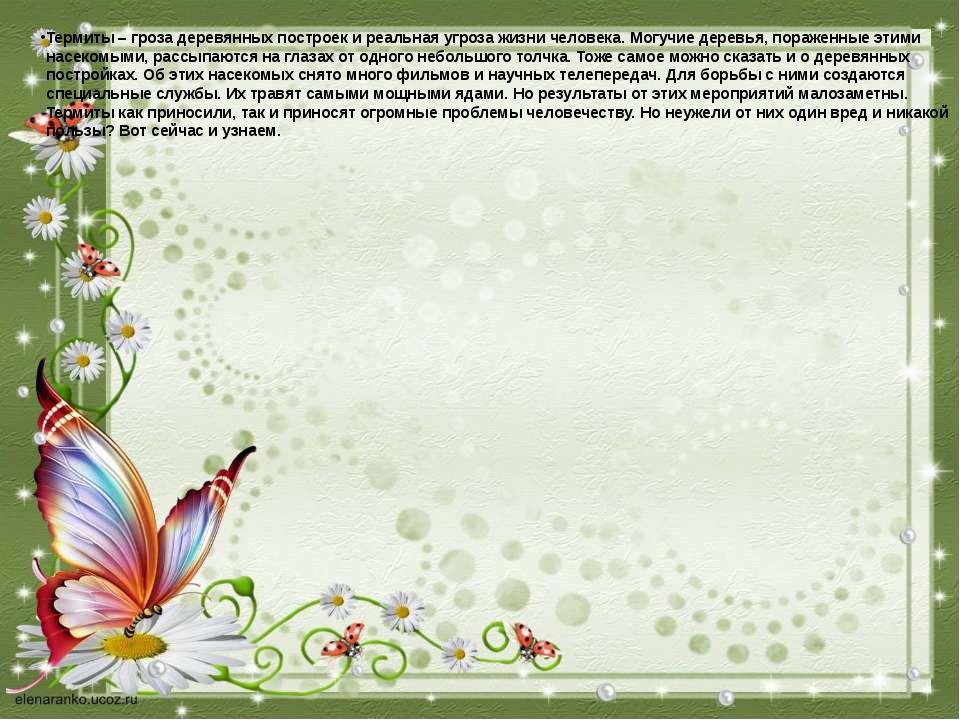 Термиты – гроза деревянных построек и реальная угроза жизни человека. Могучи...