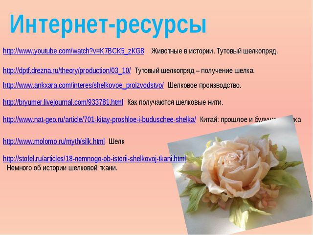 Интернет-ресурсы http://www.youtube.com/watch?v=K7BCK5_zKG8 Животные в истори...