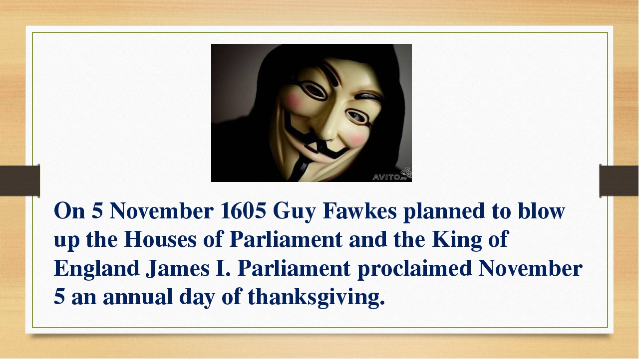 On 5 November 1605 Guy Fawkes planned to blow up the Houses of Parliament and...