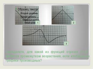 Определите, для какой из функций отрезок [-1;1] является промежутком возраста