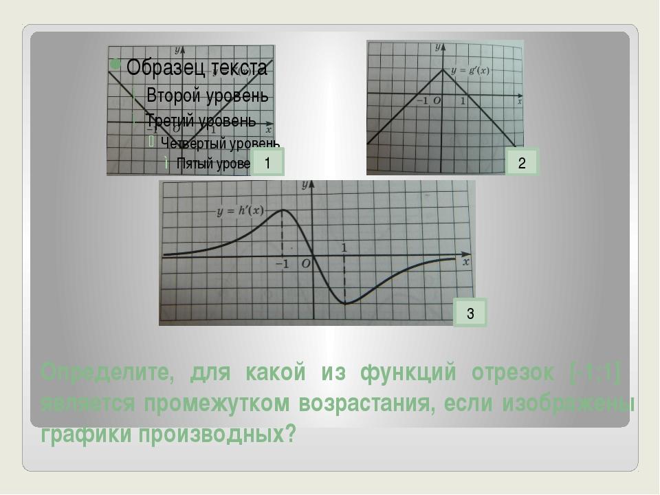 Определите, для какой из функций отрезок [-1;1] является промежутком возраста...